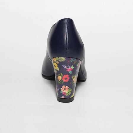Pantofi dama din piele naturala bleumaren MSPD58019-19 [3]