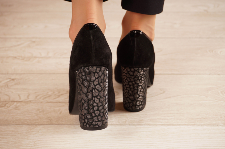 Pantofi dama din piele naturala camoscio neagra MSPD51420-1-20 [3]