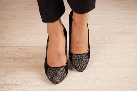 Pantofi dama din piele naturala camoscio neagra MSPD51420-1-20 [2]