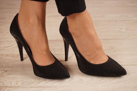 Pantofi dama din piele naturala cu imprimeu MSPD190-35-20 [0]