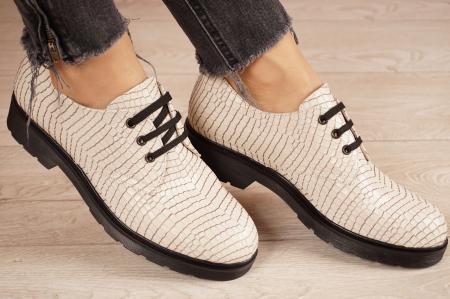 Pantofi dama din piele naturala croco MSPD55320-1-21 [1]