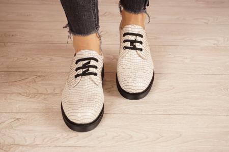 Pantofi dama din piele naturala croco MSPD55320-1-21 [3]