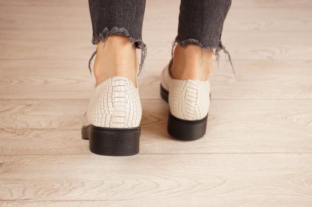 Pantofi dama din piele naturala croco MSPD55320-1-21 [4]