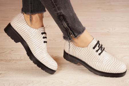 Pantofi dama din piele naturala croco MSPD55320-1-21 [0]
