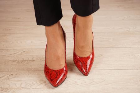 Pantofi dama din piele naturala cu imprimeu MSPD190-28-20 [2]