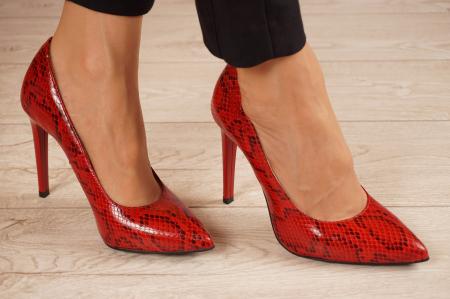 Pantofi dama din piele naturala cu imprimeu MSPD190-28-20 [0]