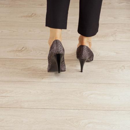 Pantofi dama din piele naturala cu imprimeu MSPD190-3-20 [3]