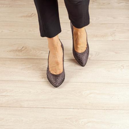 Pantofi dama din piele naturala cu imprimeu MSPD190-3-20 [2]