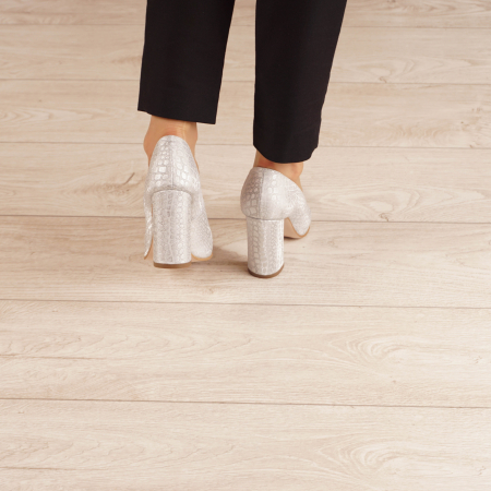 Pantofi dama din piele naturala cu imprimeu MSPD190-31-20 [3]