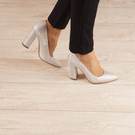Pantofi dama din piele naturala cu imprimeu MSPD190-31-20 [0]