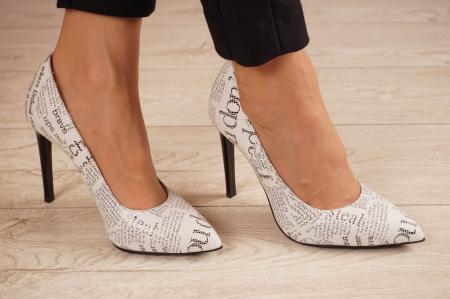 Pantofi dama din piele naturala cu imprimeu MSPD190-37-20 [0]
