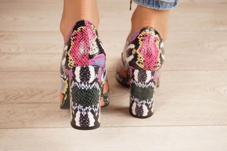 Pantofi dama din piele naturala cu imprimeu MSPD190-38-20 [3]