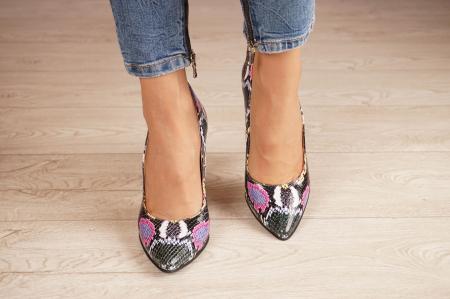 Pantofi dama din piele naturala cu imprimeu MSPD190-38-20 [2]