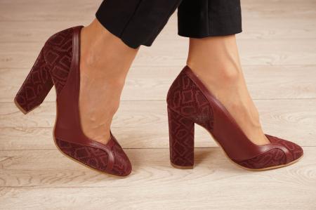 Pantofi dama din piele naturala cu imprimeu MSPD50920-1-20 [1]