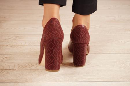 Pantofi dama din piele naturala cu imprimeu MSPD50920-1-20 [3]