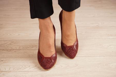 Pantofi dama din piele naturala cu imprimeu MSPD50920-1-20 [2]