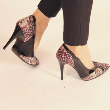 Pantofi dama din piele naturala cu imprimeu MSPD50920-20 [2]