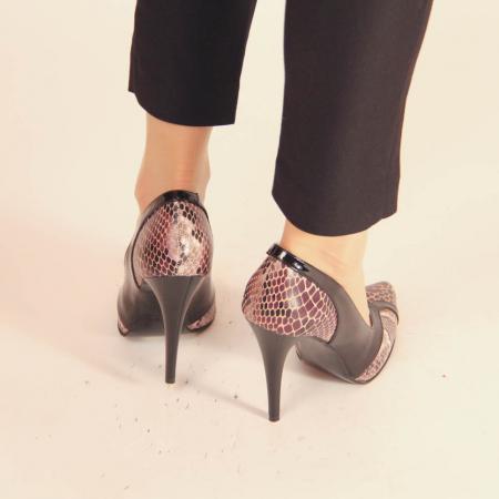Pantofi dama din piele naturala cu imprimeu MSPD50920-20 [3]