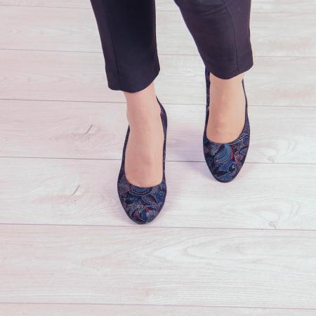 Pantofi dama din piele naturala cu imprimeu MSPD52017-4-20 [2]