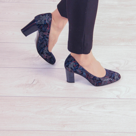 Pantofi dama din piele naturala cu imprimeu MSPD52017-4-20 [0]