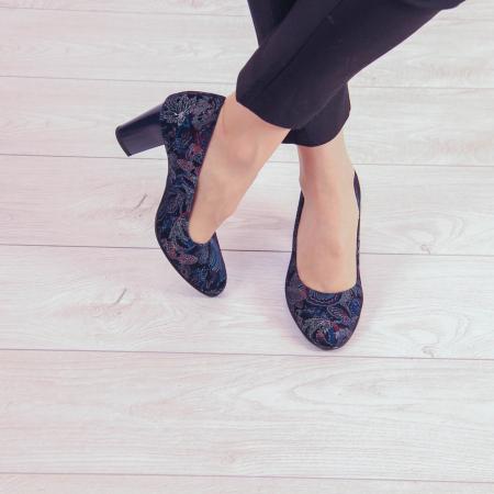 Pantofi dama din piele naturala cu imprimeu MSPD52017-4-20 [1]