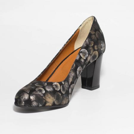 Pantofi dama din piele naturala cu imprimeu MSPD52017-6-19 [2]