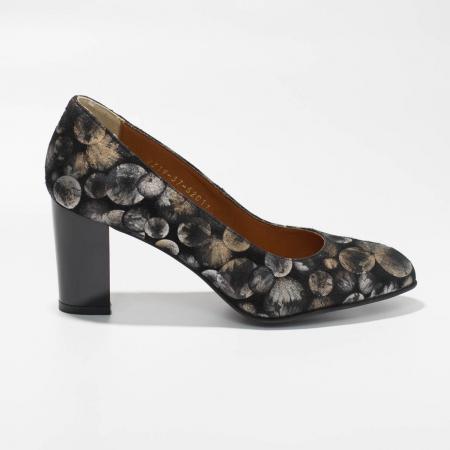 Pantofi dama din piele naturala cu imprimeu MSPD52017-6-19 [0]