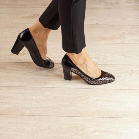 Pantofi dama din piele naturala cu imprimeu MSPD52020-20 [0]