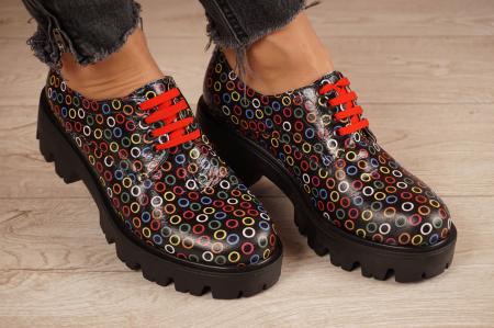 Pantofi dama din piele naturala cu imprimeu MSPD53017-13-200