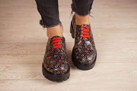Pantofi dama din piele naturala cu imprimeu MSPD53017-13-203