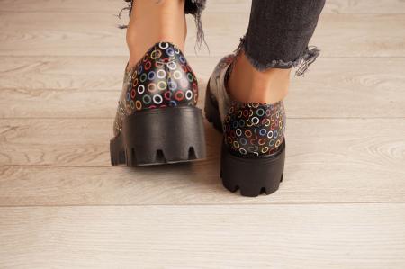 Pantofi dama din piele naturala cu imprimeu MSPD53017-13-204