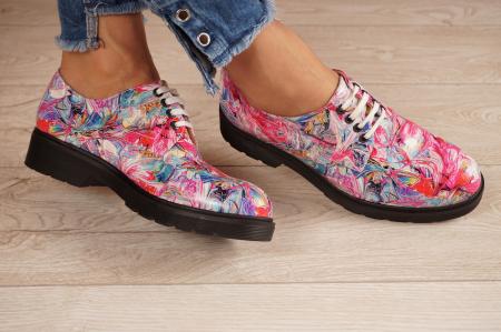 Pantofi dama din piele naturala cu imprimeu MSPD53017-15-201