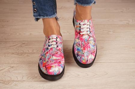 Pantofi dama din piele naturala cu imprimeu MSPD53017-15-203
