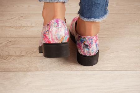 Pantofi dama din piele naturala cu imprimeu MSPD53017-15-204