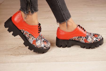 Pantofi dama din piele naturala cu imprimeu MSPD53017-16-20 [2]