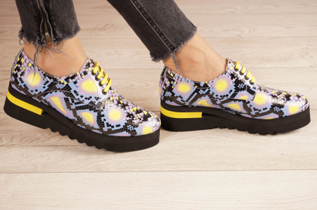 Pantofi dama din piele naturala cu imprimeu MSPD53017-2-21 [2]