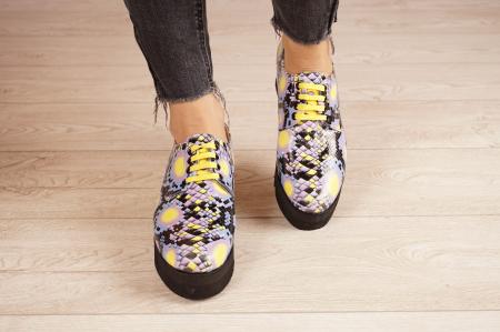 Pantofi dama din piele naturala cu imprimeu MSPD53017-2-21 [3]