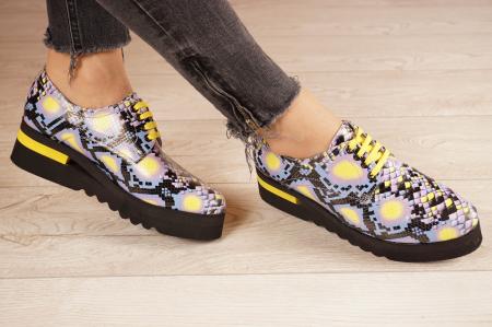 Pantofi dama din piele naturala cu imprimeu MSPD53017-2-21 [1]