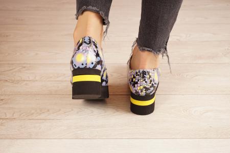 Pantofi dama din piele naturala cu imprimeu MSPD53017-2-21 [4]