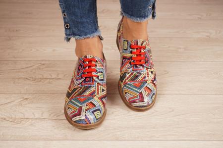 Pantofi dama din piele naturala cu imprimeu MSPD53017-3-20 [3]