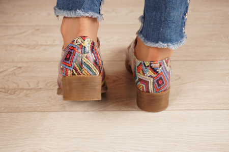Pantofi dama din piele naturala cu imprimeu MSPD53017-3-20 [4]
