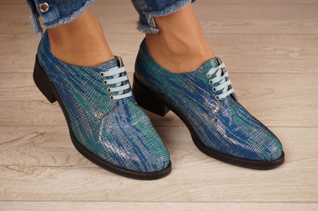 Pantofi dama din piele naturala cu imprimeu MSPD53017-5-20 [0]