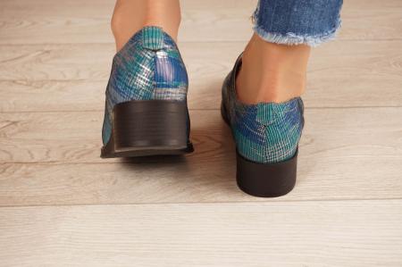 Pantofi dama din piele naturala cu imprimeu MSPD53017-5-20 [4]
