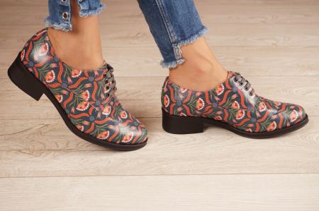 Pantofi dama din piele naturala cu imprimeu MSPD53017-6-20 [2]
