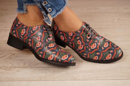 Pantofi dama din piele naturala cu imprimeu MSPD53017-6-20 [1]