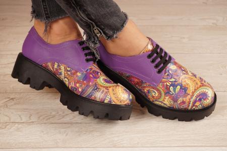 Pantofi dama din piele naturala cu imprimeu MSPD53017-9-20 [1]