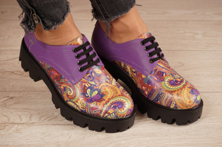Pantofi dama din piele naturala cu imprimeu MSPD53017-9-20 [0]