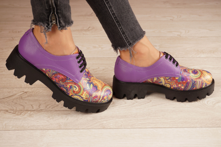 Pantofi dama din piele naturala cu imprimeu MSPD53017-9-20 [2]