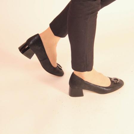 Pantofi dama din piele naturala cu imprimeu MSPD53720-20 [0]