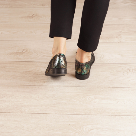 Pantofi dama din piele naturala cu imprimeu MSPD54420-1-203